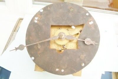 Clock makers Fusee clock movement with Nice shaped plates Early with nice hands