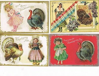 Lot of 28 ANTIQUE EARLY 1900s HOLIDAY Postcards   * THANKSGIVING *