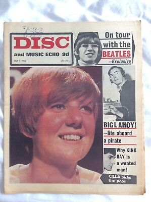 Disc and Music Echo July 1966- Beatles in Germany, Jimmy Page, Hollies, Kinks