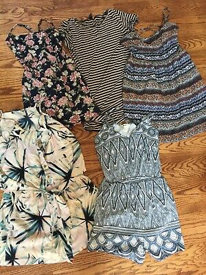 Lot Of 5 Summer Dresses Junior Womens Small Short Jumpers