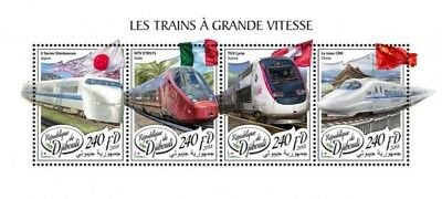 Z08 Imperf Djb18316a Djibouti 2018 European Speed Trains Mnh ** Postfrisch Briefmarken