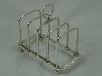 BARNARD FAMILY - solid silver TOAST RACK, 1969, 94gm