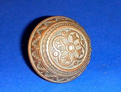 Beautiful Antique Cast Bronze Victorian Eastlake Door Knob