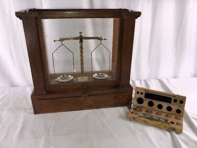 Antique Voland & Sons Diamond Scale Wooden Case 10024 Jewelry Scale