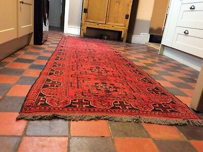 Persian Rug Runner 10ft X 3ft Hand Made Wool
