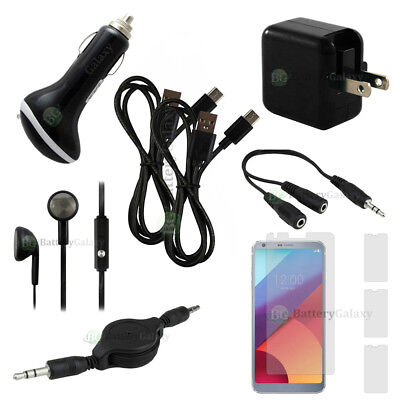 10 pc Super Value FAST CHARGING Phone Accessory Starter Kit for Android LG G6