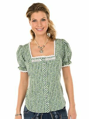 Orbis Traditional Costume Blouse Checked Agogna Green