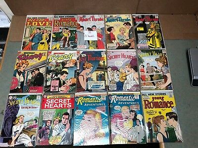 LOT 15 1950s 60s GOLD/SILVER AGE - YOUNG ROMANCE SECRET HEARTS DIARY LOVE MORROW