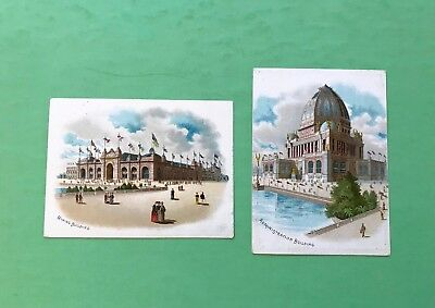 Two Victorian Trade Cards - Columbian EXPO 1893 - Bucher & Gibbs Plow Co. Ohio