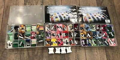 Large Lot of Cross Stitch J&P Coats Embroidery Floss Organizer Cases