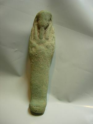 Ancient VINTAGE Egyptian Faience Ushabti TOMB DOLL TRINKET AFTERLIFE SHABTI