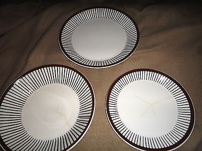 3 Gustavsberg Spisa Ribb plate bowl AS IS  sweden  for mosaic pottery art crafts