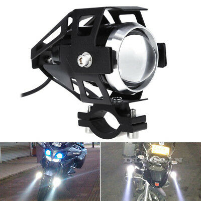 2 x 125W Motorcycle Motorbike LED U5 Headlight Driving Fog Spot Lights