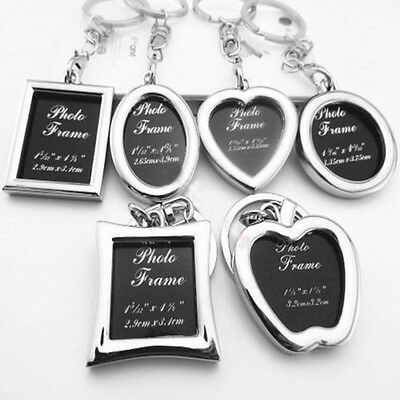 Mini Creative Metal Insert Photo Picture Frame Keyring Keychain Charm Pendant
