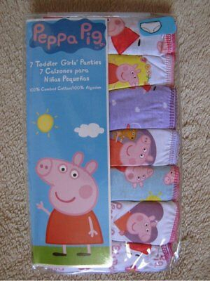PEPPA PIG - 7pc Underwear Panties Set Toddler Girls sz 4T