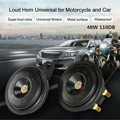 Universal 2X 48W 12V 4A Car SUV Truck Front Grille Electric Horns Speaker 110db