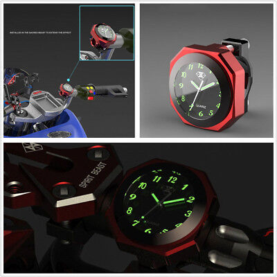 High Quality Alloy Red Shell Motorcycles Save Energy Modified LED Luminous Clock