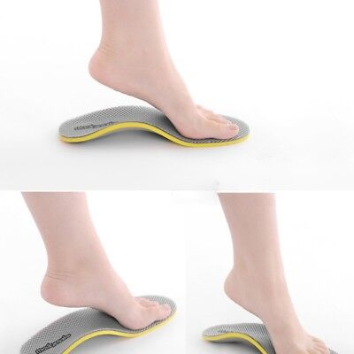 Foot 3D Premium Orthotic Flat feet High Arch Support Insoles Cuttable Pad