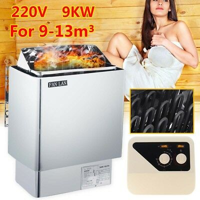 FAN LAN 220V Sauna Heater Stove 9KW Wet Dry Stainless Steel External Control Au
