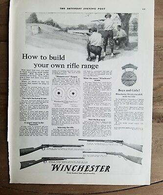 1917 Winchester Model 06 90 22 03 rifle shooting range gun ad