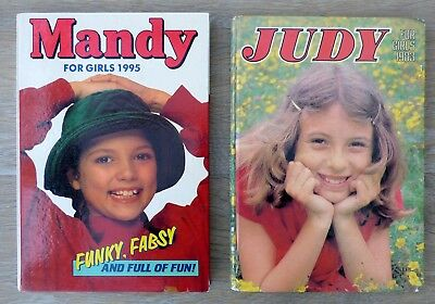 2  Vintage GIRLS  Annuals - MANDY and JUDY   1995 & 1983