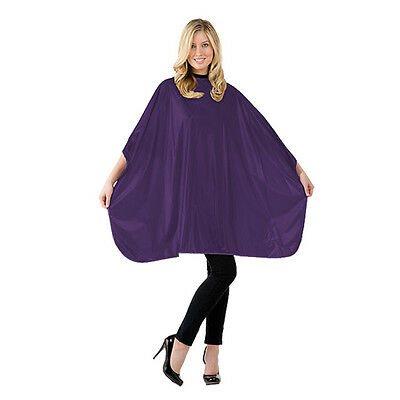 "NEW Hair Stylist Shampoo Cape Embossed Purple 36""x 54"" V Closure Betty Dain #306"