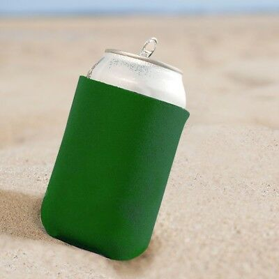 10 x Green Koozie Can Cooler for 330ml Beer or Soft Drink Cans - wholesale lot