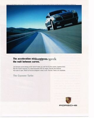 2004 PORSCHE Cayenne Turbo Blue Advertisement