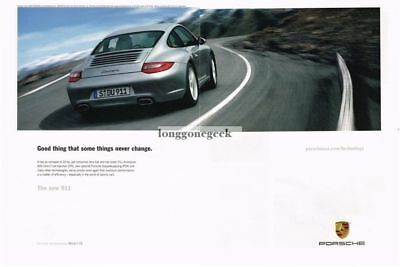 2009 PORSCHE 911 Carrera Silver Driving a Mountain Road 2-page Advertisement