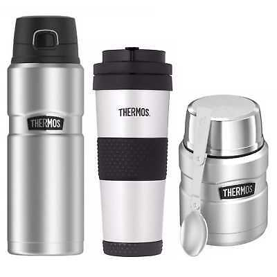 Thermos King Vacuum Insulated 24oz with 18oz Bottle and Food Jar