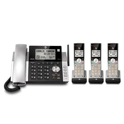 AT&T CL84365 3-Handset Corded/Cordless Answering System with Talking Caller ID
