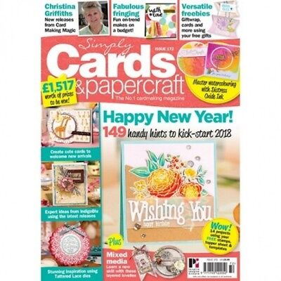 Simply Cards & Papercraft Magazine Issue 172+  All Occasion 19 Piece Stamp Set