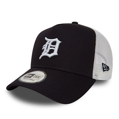 New Era Mens Baseball Cap.detroit Tigers Mlb A Frame Navy Mesh Trucker Hat 8S2 4