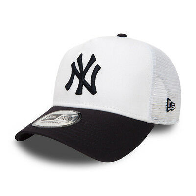 New Era Mens Baseball Cap.new York Yankees Mlb Navy White Mesh Trucker Hat 8S2 0