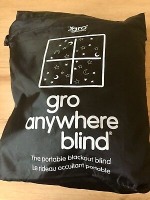 Gro Anywhere Blind Portable Nursery Bedroom Black Out Blind Kids Holiday Caravan