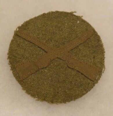 Wwi Infantry Pfc Disc Brown Felt On Wool Two Small Moth Bites