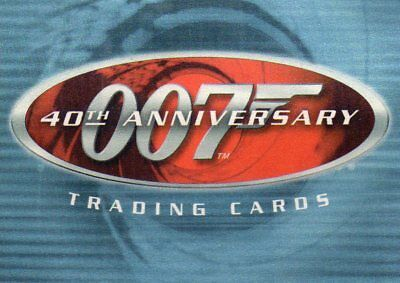 40th Anniversary James Bond   2002   Individual Trading Cards
