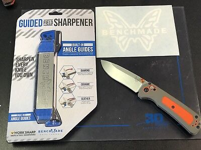Benchmade Grizzly Ridge 15061 and Benchmade Worksharp Sarpner and Decal