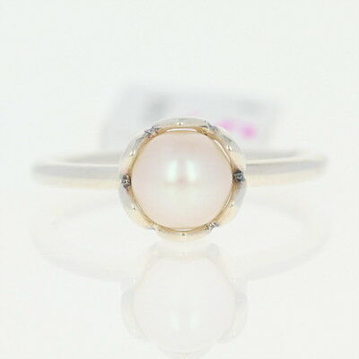 NEW Authentic Pandora Cultured Elegance Ring - Sterling Pearl 190865P-50 Size 5