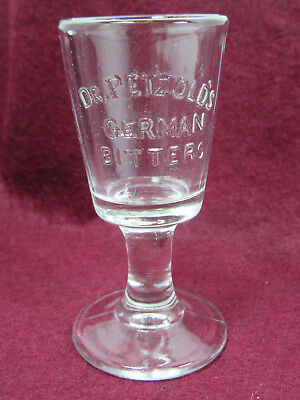 Antique Pre-Prohibition Dr Petzold's Bitters Dose Shot Glass German Apothecary
