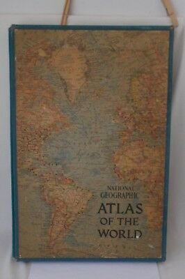Vintage national geographic atlas of the world map book 1963 in vintage national geographic atlas of the world map book 1963 in slipcase gumiabroncs Image collections