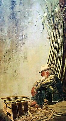 """Vic Herman (1919-1999) """"sugar Cane Man"""" S&n Litho List Price $400./ Special Here"""