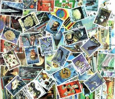 Djibouti Stamp Collection - 100 Different Stamps