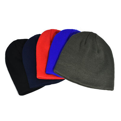 Unisex Men Hip-Hop Warm Winter Wool Knit Ski Beanie Women Skull Slouchy Cap Hat