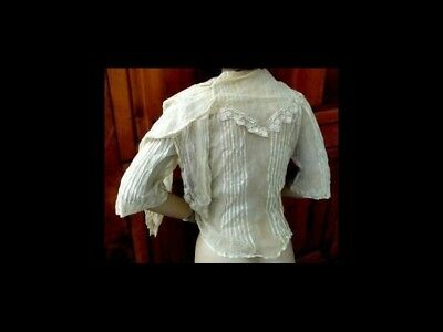 antique victorian/edwardian FRENCH NET LACE BLOUSE