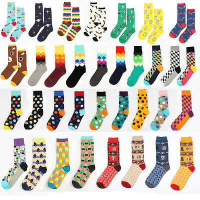 Unisex Casual Cotton Multi-Color Socks Hosiery Fashion Dress Men's Women's Socks