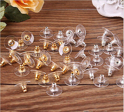 Wholesale 50Pcs Silver/Gold Ear Nuts Earring Back Stopper Finding Useful Jewelry