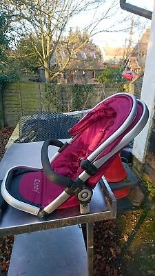 icandy peach jogger stroller in cranberry with rain cover
