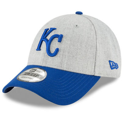 online store d3b2a 96b51 New Era Kansas City Royals Heathered Gray Royal 9FORTY The League Adjustable  Hat