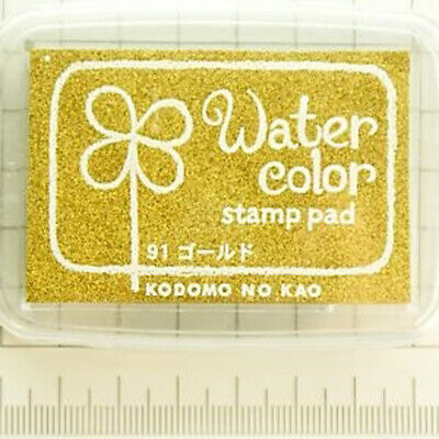 Water Color Stamp Pad Gold Metallic Made in Japan KODOMO NO KAO Brand New